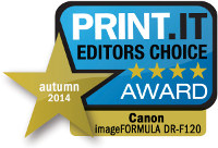 Canon DR-F120 Print It Award 2014