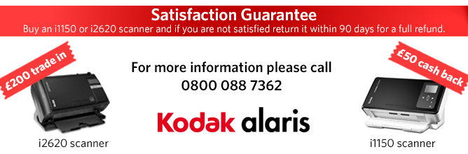 Kodak Alaris satifaction guaranteee